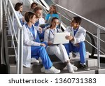 group of medical students in...   Shutterstock . vector #1360731383