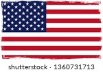 grunge american flag.vector usa ... | Shutterstock .eps vector #1360731713