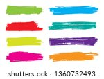 color grunge banners | Shutterstock .eps vector #1360732493
