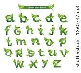 eco green letter pack logo... | Shutterstock .eps vector #1360747553