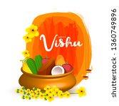 illustration of  happy vishu...   Shutterstock .eps vector #1360749896