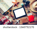 travel accessories costumes.... | Shutterstock . vector #1360752170