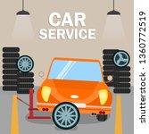 retro automobile renewal flat... | Shutterstock .eps vector #1360772519
