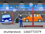auto car service options promo... | Shutterstock .eps vector #1360772579