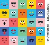 emoji  icon  expression  smile  ... | Shutterstock . vector #1360782803