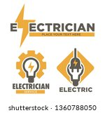 electric repair and electrician ... | Shutterstock .eps vector #1360788050