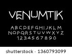 trendy font. minimalistic style ... | Shutterstock .eps vector #1360793099