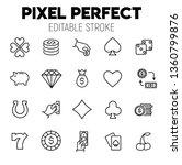 casino related vector icon set. ... | Shutterstock .eps vector #1360799876
