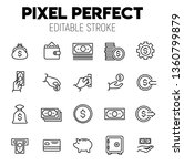 cash  related vector icon set.... | Shutterstock .eps vector #1360799879