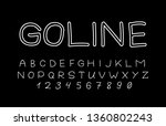 trendy font. minimalistic style ... | Shutterstock .eps vector #1360802243