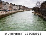 Seine River In Paris In Spring...