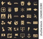 globe cartography icons set.... | Shutterstock .eps vector #1360813280