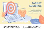 targeting audience flat banner... | Shutterstock .eps vector #1360820240
