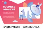 business analysis abstract... | Shutterstock .eps vector #1360820966