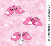 seamless pattern with a birds...   Shutterstock .eps vector #136082324