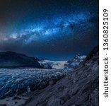 wonderful vatnajokull glacier...   Shutterstock . vector #1360825109