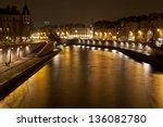 Seine River And Quay In Paris...