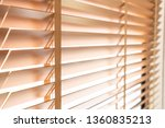 wooden shutters blind on the... | Shutterstock . vector #1360835213
