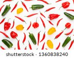 spice herbal leaves and chili... | Shutterstock . vector #1360838240