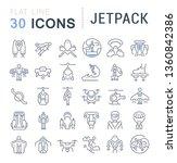 set of line icons of jetpack... | Shutterstock . vector #1360842386