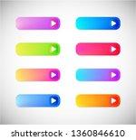 web icon  button  banner set ...   Shutterstock . vector #1360846610