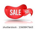 red banner for promotion... | Shutterstock .eps vector #1360847663
