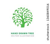 tree. tree abstract logo. hand... | Shutterstock .eps vector #1360849016