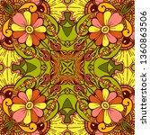 kaleidoscope geometric seamless ... | Shutterstock .eps vector #1360863506