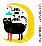 Creative Modern Print With Cat...