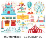 amusement park attractions.... | Shutterstock .eps vector #1360868480