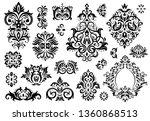 damask ornament. vintage floral ... | Shutterstock .eps vector #1360868513
