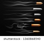 flying bullet traces. shooting... | Shutterstock .eps vector #1360868540