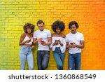 group of afroamerican friends... | Shutterstock . vector #1360868549