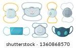 safety breathing masks....   Shutterstock .eps vector #1360868570