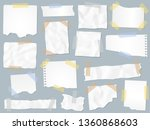 scraps paper on adhesive tape.... | Shutterstock .eps vector #1360868603