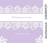 Wedding Invitation. Lace...