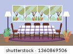 diving room with table and... | Shutterstock .eps vector #1360869506