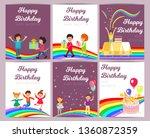 set happy birthday party... | Shutterstock .eps vector #1360872359