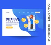 refer a friend concept vector...