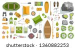 vector set. elements of camping.... | Shutterstock .eps vector #1360882253