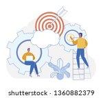 cartoon vector purposeful... | Shutterstock .eps vector #1360882379