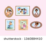 set portait with family... | Shutterstock .eps vector #1360884410