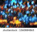 random abstract oil painting | Shutterstock . vector #1360884863