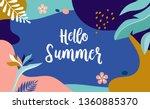 hello summer  vector banner... | Shutterstock .eps vector #1360885370