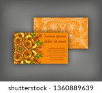 set of business  invitation ... | Shutterstock .eps vector #1360889639