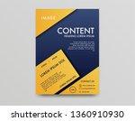 poster template design . blue... | Shutterstock .eps vector #1360910930