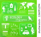 set of ecology infographics... | Shutterstock .eps vector #136091294