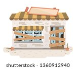 illustration of an old and... | Shutterstock .eps vector #1360912940