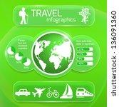 travel infographics web design. ... | Shutterstock .eps vector #136091360