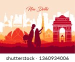 illustration of famous indian... | Shutterstock .eps vector #1360934006